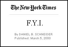FYI - 2000 March 5 - NYT By Line re Prow