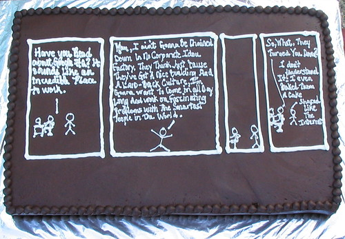 Cake for Randall Munroe at Google