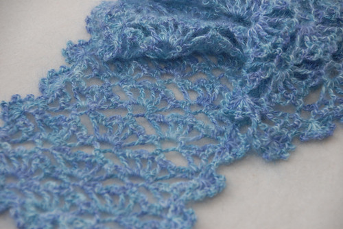 Crochet Lacy Scarf FO 2