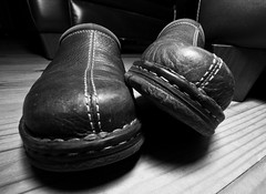shoes (digphotoman/ doug) Tags: blackandwhite bw shoes canon1022mm