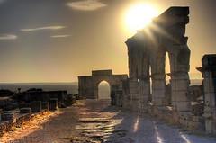 Pharaoh's Palace (Karnevil) Tags: africa sunset architecture ruins roman morocco triumphalarch hdr volubilis meknes romanruins diamondclassphotographer