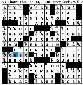 Hospital hook up crossword