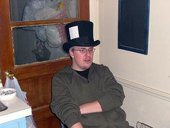 Me in my top hat... singing.