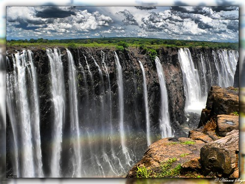 Rainbow falls (HDR) - Victoria Falls