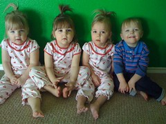 cherry girls & Hudson (the Quads)