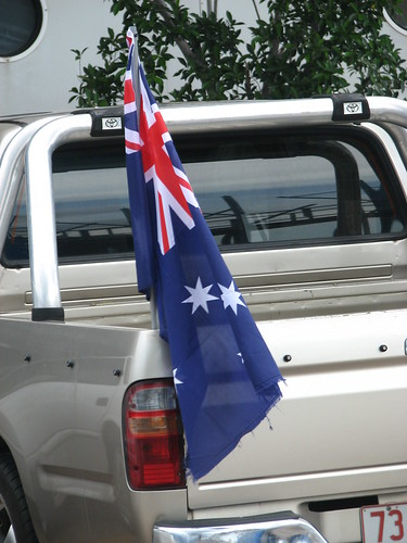 Aussie Flag on ute