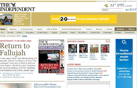 Independent homepage