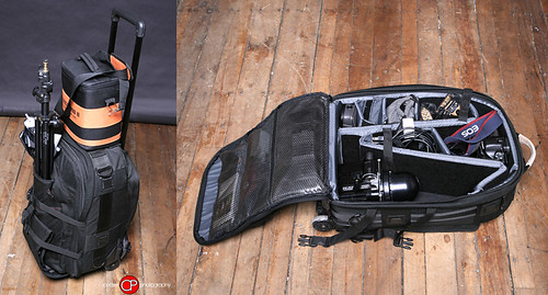 On-Location Gear bag: Tamrac Rolling Case