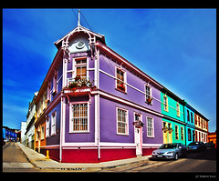 Valparaiso Colors at Daylight... 5th one! (B'Rob) Tags: chile city blue sky orange house streetart color building verde green art true car azul architecture photography valparaiso mar photo yahoo casa google arquitectura nikon flickr paradise via edificio picture cyan ciudad best coche cielo wikipedia eden valparaso naranja paraiso fucsia paraso valpo porteo viadelmar portea snopes d40 brob edn 20tfcolor brobphoto