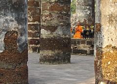 Past the columns