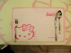 Hello Kitty Cafe Taipei Taiwan Placemat (Chamelle Photo) Tags: pink food cute cakes public cake cat japanese this restaurant see design cafe all with photos sweet drawing hellokitty interior treats cartoon taiwan icon tagged desserts placemat chandelier birthdaycake bakery kawaii pastry sweets theme click taipei   pastries decor  fuxing zhongxiao daanroad hellokittysweets