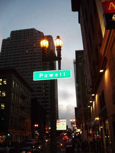 Powell street, cool light.  Check out the sign in the background