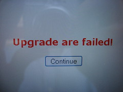 Upgrade are failed!