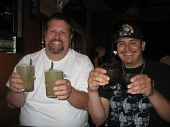 Jason & Jarrod two-fisting it in downtown Santa Barbara. (05/03/2008)