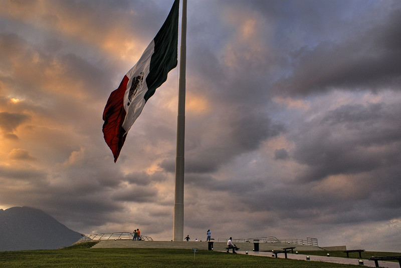 Aqui se ven todas las banderas de México
