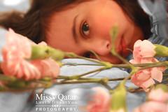 (Missy   Qatar) Tags: pink flowers bw eye missy fav qatar shosho mashallah notinthemood alkhater mbd3a missyqatar modelshosho {~thnxdear