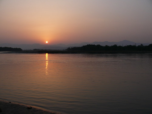 Sunrise over River Ganges at Haridwar