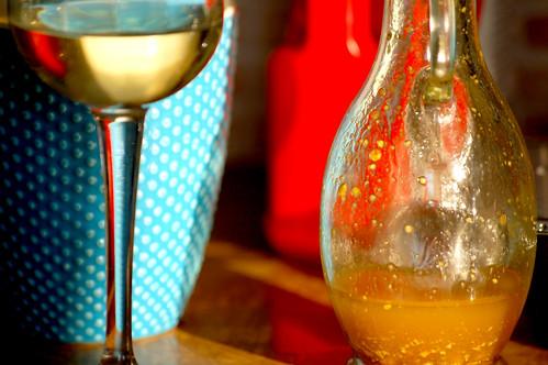 Tea, wine and salad dressing