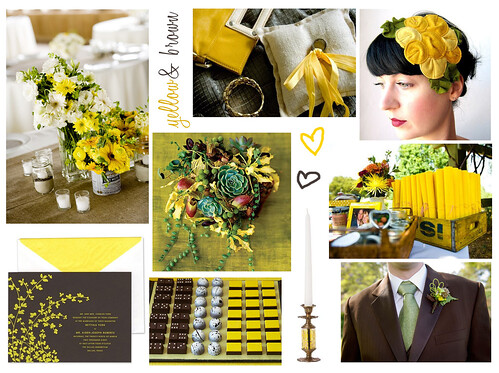 Wedding Wednesday: Yellow and Brown