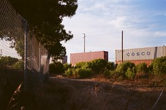 Freight (horribleharp) Tags: 35mm filmphotography film fuji fujfilm torrance trains southbay sunset superia street analog olympus mjuii grain youngphotographers youngphotographer