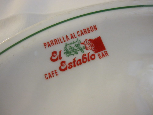 signature plates at El Establo
