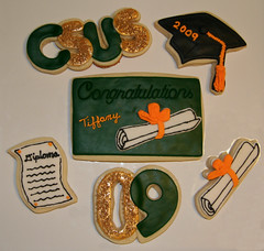 CSUS grad cookies (Kiss My Buttercream -formally CookieJans Creations) Tags: cookies diploma graduation 2009 csus graduationcap