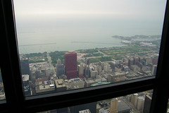 Views From the Skydeck at the Willis Tower (Chicago, Illinois) (cseeman) Tags: city chicago skyscraper illinois downtown searstower down lookingdown skydeck observationdeck glassfloor willistower