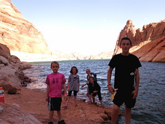 the hikers at Lake Powell