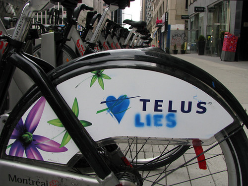 Bixi sponsorship ad backlash