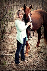 Mine (Propelsthemoon) Tags: portrait horse woman girl field canon photography rebel 50mm spring artistic terrace creative columbia teenager british 18 stable kitimat t1i copperside propelthemoon