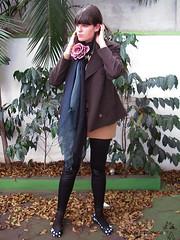 Look do dia: Aceite mais (Girafa Branca) Tags: blog flor melissa severine inverno casaco suter lookdodia girafabranca