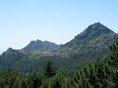 Vers le col du Monaco: Uomu di Cagna, le col et la Punta Monaco