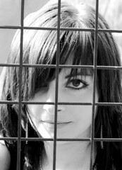 behind the cage (manikin*) Tags: portrait bw eye me face hair cage lips ih bwdreams supershot marcsi impressedbeauty onlyyourbestshots diamondclassphotographer