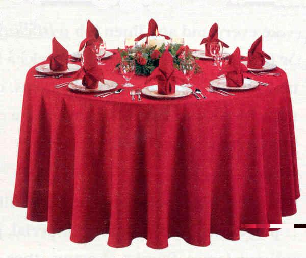 Charmant Red Round Cloth