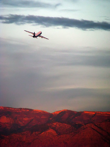 Plane taking off from Sunport