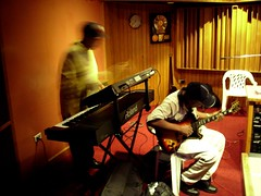 Ansel and Dwight (anbessa) Tags: music dreadlocks studio roots kingston jamaica caribbean reggae ghetto rasta rastafari