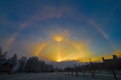 Sun Portal - Parhelion (Svein Skjåk Nordrum) Tags: sun oslo norway optical halo parhelion sundog atmospheric tpc sunpillar phenomena gaustad mocksun 22degreehalo subsun uppertangentarc anawesomeshot flickrdiamond solhund moilanenarc moilanenbue icecrystalhalo alemdagqualityonlyclub tpcu14 tpcu14l4