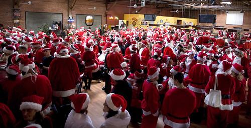 300 santas walk into a bar ...