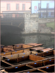 Foggy day (experimenting w/ frames) (frscspd) Tags: cambridge fog canon river cam punts magdalenebridge scudamore mywinners