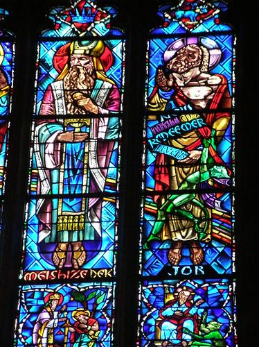 Princeton University Chapel: Melchisedek, Job