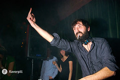 Mr. Oizo playing the role of the rude Frenchman (Flavorpill Photo) Tags: nyc flavorpill hiroballroom gbh mroizo cheekybastard 24hrphoto