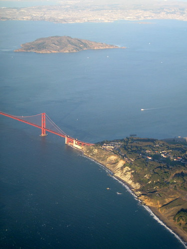 Golden Gate Bridge vu du ciel, coté San Francisco