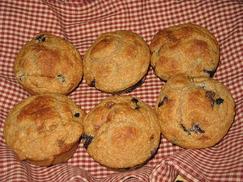 Blueberry Applesauce Muffins