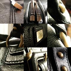 My black bag (n_s_p) Tags: black macro bag dettagli borsa nero nsp ennessepi elisabettabronzino