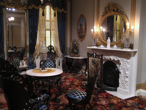 Richard and Gloria Manney John Belter Rococo Revival Parlour at the Metropolitian Museum of Art in New York