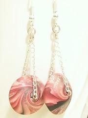 Swirly Lentil Chain Earrings