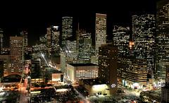 Houston Skyline 4 (An Nguyen Photography) Tags: from street city light sunset orange black flower macro skyline night photography cityscape texas purple tx parking lot houston arboretum an mercer nightlife nguyen skybar top20flickrskylines top20texas bestoftexas annguyenphotographygmailcom