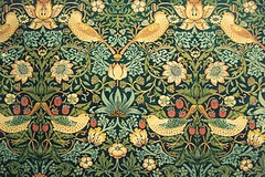The Strawberry Thief - William Morris design at the V&A (jrozwado) Tags: uk england flower bird london art museum design europe textile va victoriaandalbertmuseum nouveau williammorris decorativearts