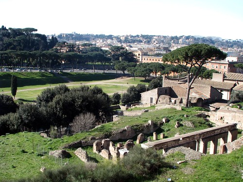 View of Circus Maximus from Palatine Hill