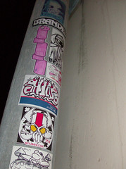 pole dancing (Question Josh? - SB/DSK) Tags: streetart sticker branded stickers josh soma uwp snub czr questionjosh bytedust melvind jshine